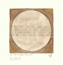 Demi-God. 2017 [gold, walnut ink on paper. 20x20cm]