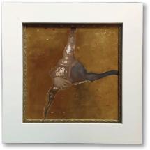 G. Barnes, 2014. Gold Crack I [burnished embossed gold and cracked gesso].