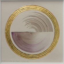 'Parallel Perception' 2019 [pigment, walnut ink and gold on paper. 22x22cm] FOR SALE Enquire at http://atelier.org.nz