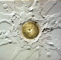 'True Bond on Release of Negation' 2019 [gesso and gold on cedar board. 20x20cm] FOR SALE Enquire at http://atelier.org.nz