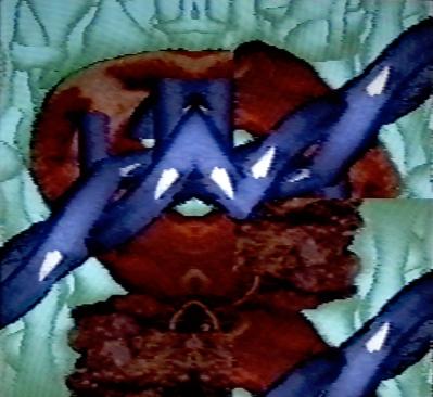 Barbed, 1990. Digital image, Amiga 1000. 640x480px