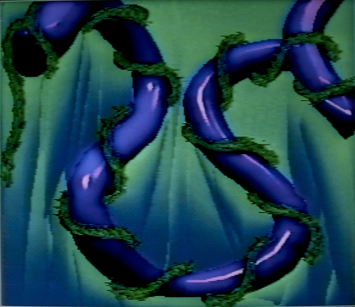 Green Heart Ivy of Violet Tubes, 1990. Digital image, Amiga 1000. 640x480px