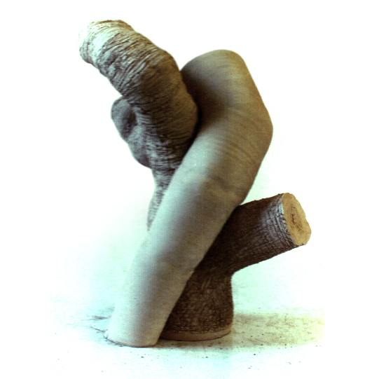 Rod and Root. 1991. Ceramic sculpture