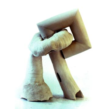 Rod and Square Root. 1991. Ceramic sculpture